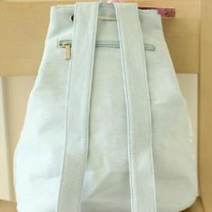 Canvas Bag,Vintage Pastel Bleu Canv..