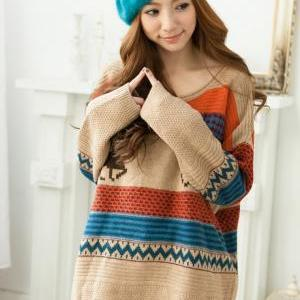 Free Shipping Sweater Cute Deer Pat..