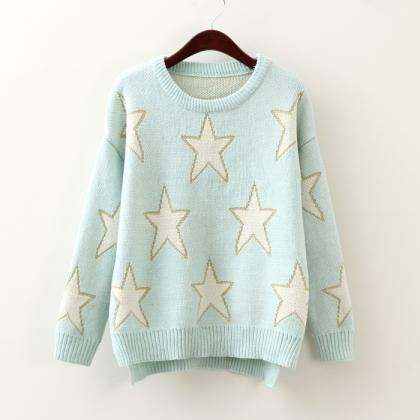 Pentagram Light Blue Pullover Sweat..