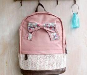 Pink Lace Backpack W..
