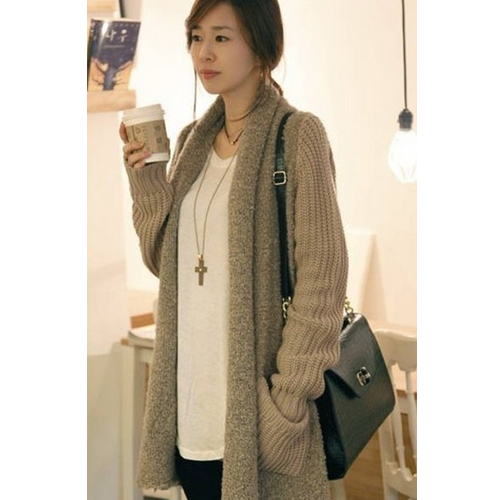 eaa4933a49db5d Loose Plush Knit Cardigan Sweater on Luulla