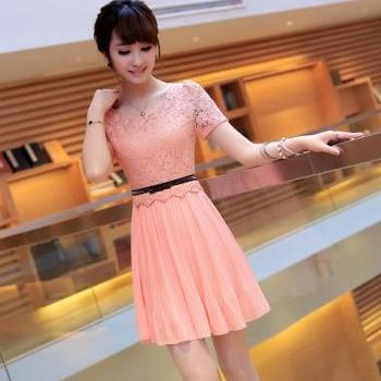 Summer Chiffon Lace Lady Dress