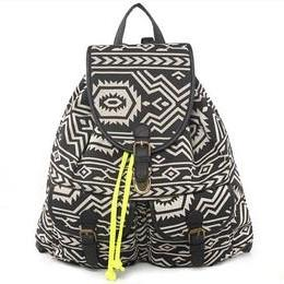 Retro Geometric Figure Backpack Bag