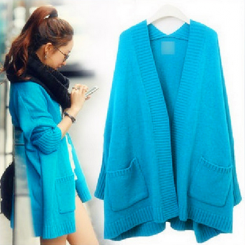Long Cardigan Sweater Loose Sweater Coat Fashion Shawl