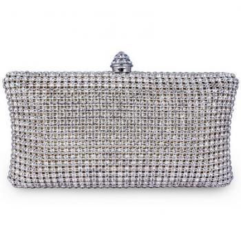 Full Crystal Evening Clutch Bag New Design With 120 Cm Long Chain Wedding Party Bag Wholesale Myself Jewellery 64966-25